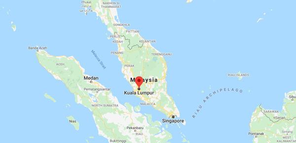 where is kuala lumpur - malaysia map