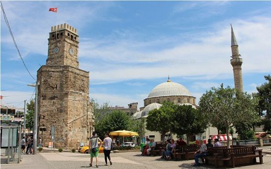 antalya old town clock tower