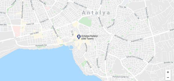 how to get to antalya old town kaleici