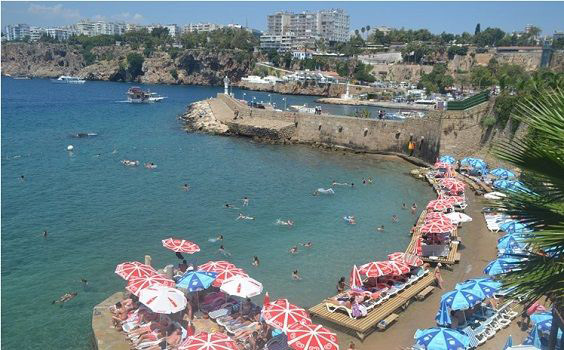 mermerli beach places to visit in antalya old town