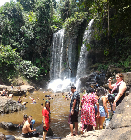 phnom kulen national park waterfall