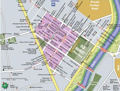 siem reap tourist map