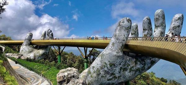 Golden Bridge - Places to Visit in Vietnam - Da Nang - Ba Na Hills