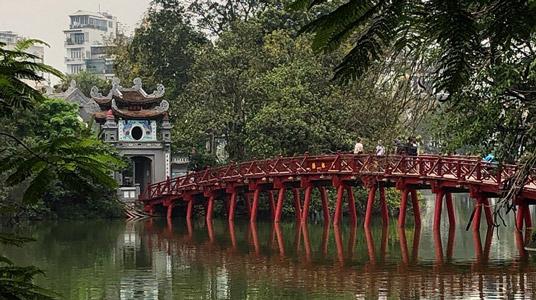 Hoan Kiem Lake Capital City Hanoi