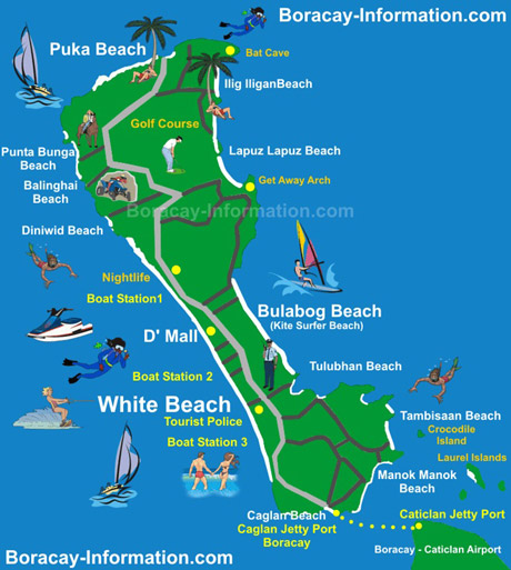 Where to stay in Boracay Island Tourist Map Best Things to do