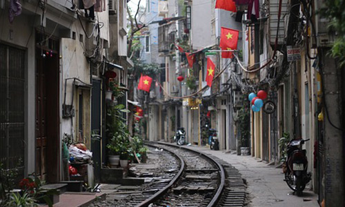 Train Street Places to visit in Hanoi Capital of Vietnam