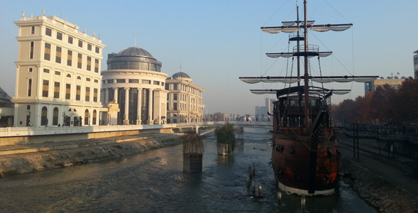 Best places to visit in Skopje Vardar River